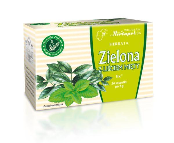Herbata zielona z miętą